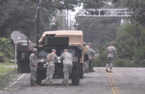 Mississippi National Guard troops work in Gulfport after Hurricane Gustav. (AP Photo/Sun Herald, Pat Sullivan)